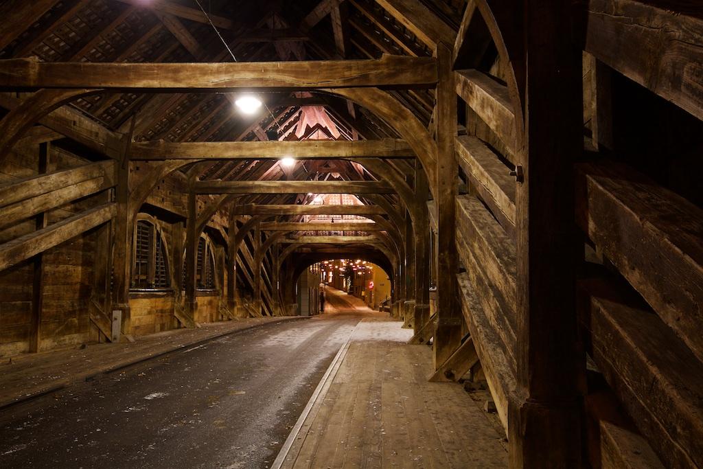 Holzbrücke in Baden