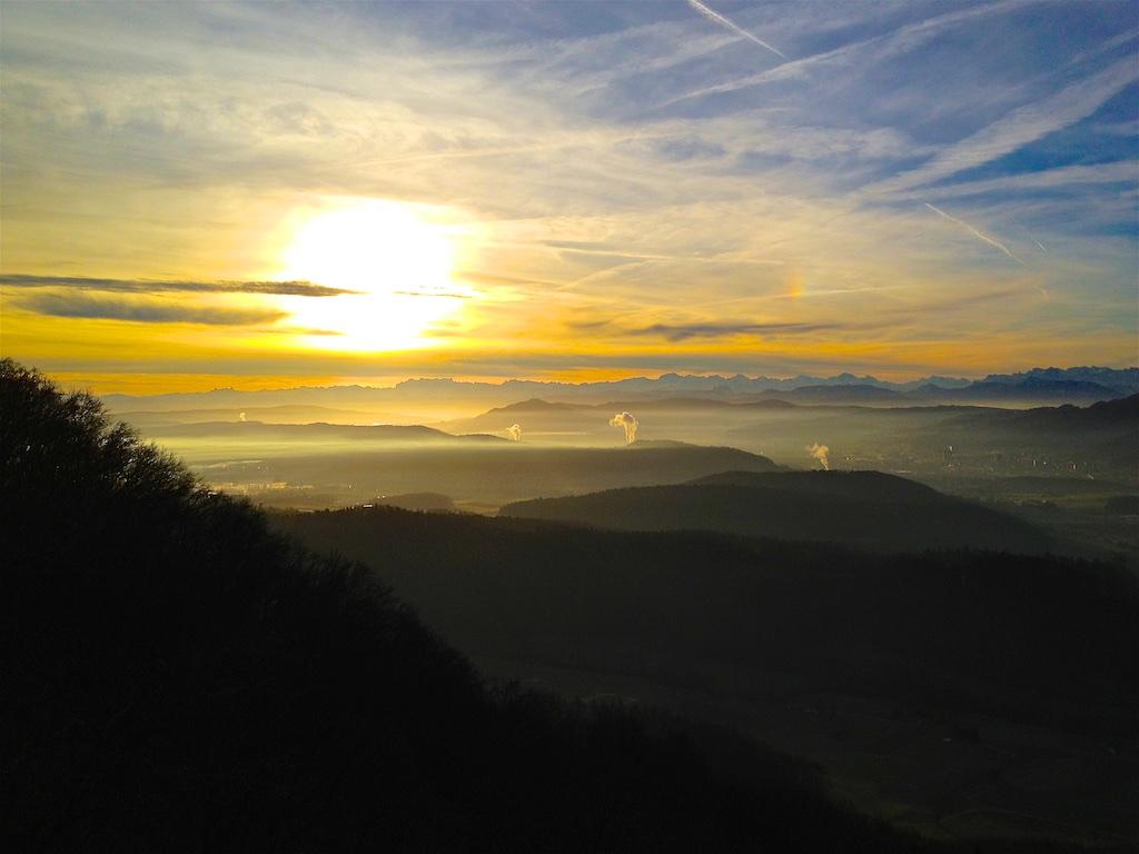 Sunrise over Limmattal