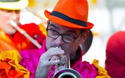 Trompeter am Kinderumzug - mk0068