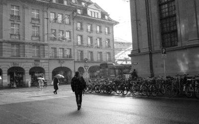 Bahnhofplatzstrasse - Spitalgasse bei Regen und Sonne - mk0149
