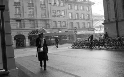 Bahnhofplatzstrasse - Spitalgasse bei Regen und Sonne - mk0148
