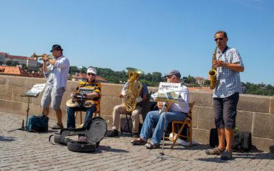 Jazze-Gruppe auf der Karlsbrücke - mk0520